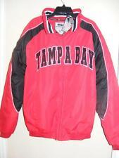 NWT Men's TAMPA BAY red & black Stadium Jacket XL fleece lined