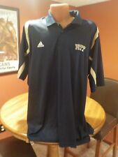 PITTSBURGH PANTHERS PITT FOOTBALL PLAYER COACH ISSUED ADIDAS POLO DRI FIT SHIRT