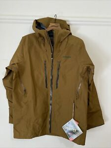 New 2021 Men's Patagonia PowSlayer Ski Jacket Medium $699 Gore Tex Mulch Brown