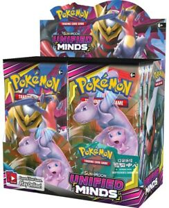 POKEMON TRADING CARD SUN & MOON Unified Minds Booster EACH PACK $3.95