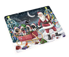 Christmas Santa Anatolian Shepherd Dogs Tempered Cutting Board Large Db703