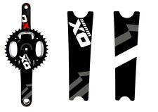Crank Set Stickers Decals MTB SRAM X0 Mountain Bike Bicycle Adhesive 2 Pcs White