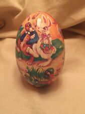 Vintage Cardboard Decorated Easter Egg Pre Owned