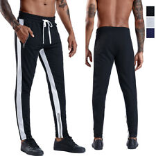 Mens Activewear Bottoms Running Jogging Casual Long Trousers Hiphop with Pockets
