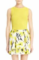 ~~ NWT Alice + Olivia 'Finnigan' Silk Blend Tank, Yellow, L