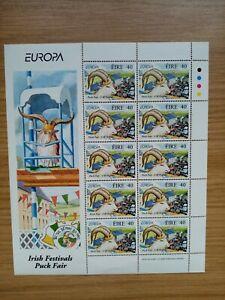 IRELAND 1998 MNH FESTIVALS STAMP SHEET - KILLORGLIN PUCK FAIR - 10 x 40P MINT