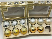 Item 440 Vintage Lanissa Christmas Ornaments 4 large and one small glass ornaments in an original box