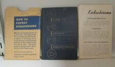 How to Expose Kodachrome Motion Picture/Still Photography, 1938 Exposure Guide