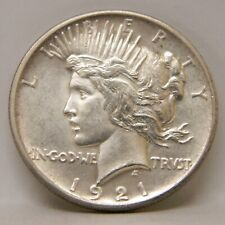 1921 Peace Dollar Unc Nice Strike
