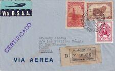 S1396-ARGENTINA, BUSTA DA BUENOS AIRES PER  PARIGI, RACC., VIA AEREA, 1947