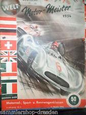 20194 BAHR Welt-Motor-Meister 1954 Motorrad- Sport- und Rennwagenklassen Bericht