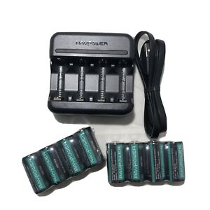 RAVPowerCR123A 8 Batteries Rechargeable With a USB 8 Pack 700mAh Arlo PB15