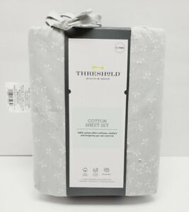Twin XL Sheet Set Breathable 100% Cotton Threshold New