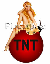 Pinup Girl Waterslide Decal Sticker Blond Big Red Bomb Shell Bomber Art TNT S888