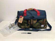 RARE HERSCHEL Walton Navy Camo Red Woodland Duffle Bag Shoulder Gym Travel Vtg