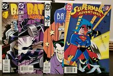 Batman Adventures #1-#3/Superman Adventures #25 newsstand VG (books have wear)