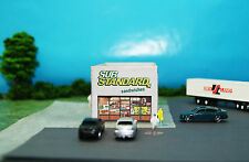 Substandard Sandwich Shop Restaurant N Scale Building DIY Paper Cutout Kit