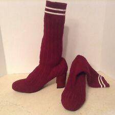 Catherine Malandrino Pulley Maroon Sock Bootie (9) MSRP $120