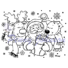 New Stampavie GIFTS FOR YOU Santa Clear Stamp Penny Johnson Christmas Holidays