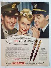 1943 Eversharp writing pen magazine advertisement
