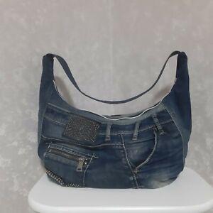 Handmade Denim slouchy bag Casual hobo bag of jeans Jean tote bag