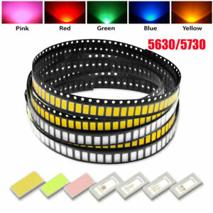 SMD 5730 / 5630 Chip LEDs Warm White Blue Red Green Yellow Light Diode Beads