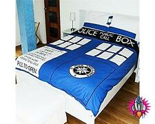 OFFICIAL DR DOCTOR WHO TARDIS DOUBLE BEDDING BED DUVET COVER SET
