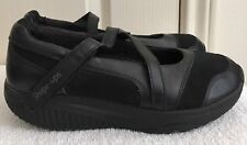 Womens SKECHERS SHAPE UPS Black Leather Mary Janes Fitness Shoes SIZE US 8.5