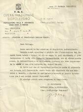 Partito Nazionale Fascista Documento Autografo del Senatore Arrigo Serpieri 1940