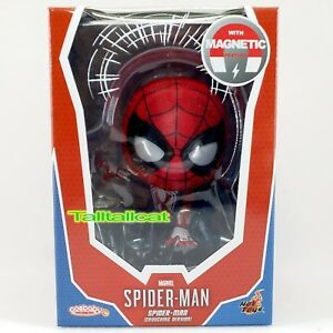Hot Toys COSB624 Marvel Spider-Man COSBABY Mini PVC Figure Iron Spider-Man Toys