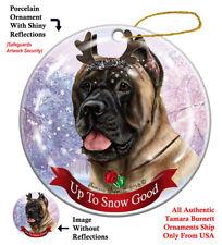 Cane corso Dog Christmas Holiday Ornament Up To Snow Good