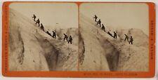 Mer de Glace Route du Jardin Suisse Photo Stereo PL28Th1n31 VintageAlbumine