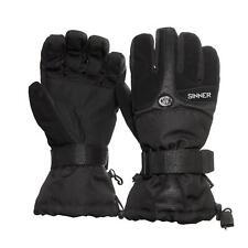 Sinner Everest Ski Gloves Black Adult Mens Medium (8.5)