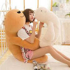 Big Fluffy Bear Pillow Soft Animal Toy Stuffed Brown White Doll Cushion Kid Gift