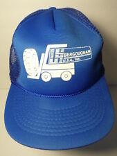 Vintage 1980s BERGOUGNAN Tire Advertising Fork Lift MESH SNAPBACK TRUCKER HAT