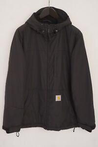 Men Carhartt Jacket Breathable Crest Waterproof Hooded Fleece Lined L VAZ845