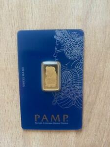 PAMP Lady Fortuna 5g Gold Bar Minted