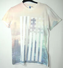 PALE PINK WHITE GENTS CASUAL TOP T-SHIRT SIZE XS DIVIDED H&M