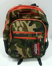 Eastsport Camo Backpack-Day Pack - Lap Top School Student College Back Pack