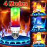 LED Flame Effect Fire Light Bulb 4 Modes E27/B22 Flickering Lamp Christmas Decor