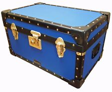 NIGHT BLUE Traditional British Mossman Made Boarding School Tuck Box Trunk
