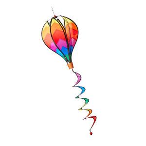 Heißluftballon Windsack Windspiel Ballon Windrad mit lockigen Schwanz