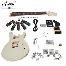 Aiersi Unfinished  PRS DIY Electric Guitar Kits With All Hardwares accessories