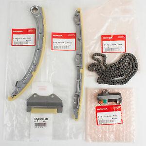 Genuine OEM Honda Timing Chain 5 Piece Set 14401-PNA-004, 14510-PRB-A01, ETC