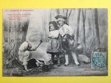 cpa 1900 Phot. BERGERET & Cie NANCY GASPARD et JEANNETON Marquis Cor de Chasse