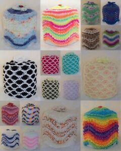 Brand New Hand Knitted Toilet Roll Cover ~ Choice of Style & Colour