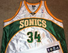 NEW VTG AUTHENTIC RAY ALLEN SEATTLE SONICS SUPERSONICS NBA ADIDAS JERSEY 52 SEWN