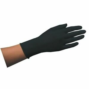 Einmalhandschuh aus Naturlatex Latexhandschuhe Schwarz (30 Stk. / Größe S, M, L)