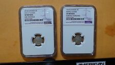 Two 1910 Canada Five Cent Pieces Holly And Maple Leaves NGC XF Details 5c Coins