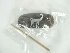 Wooden Hair Cuff Accessory with Stick metal animal charm on top from Africa new